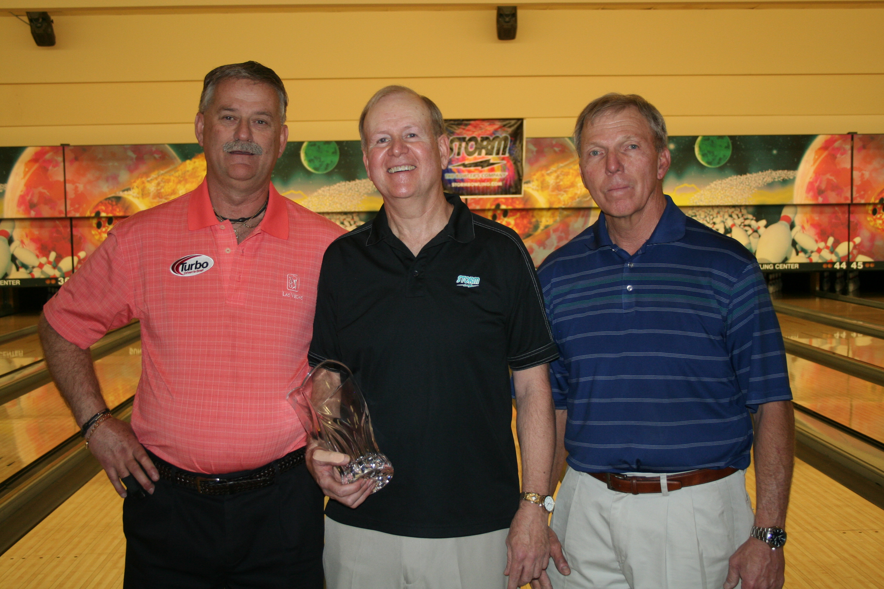 Finalist Mitch Jabczenski, Champ Harry Mickelson and runner-up Howie Loosbroock