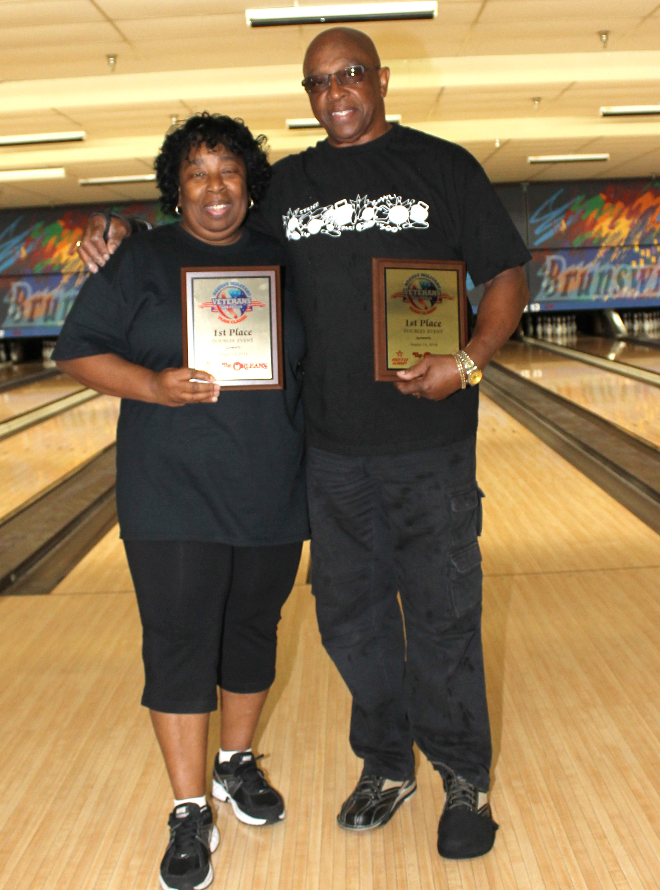 Plaques and a $2,500 prize for the winning doubles team of Felix & Glenice!